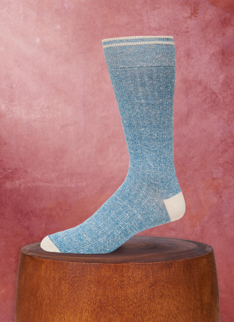 Afromood Solid Rib Sock in Teal