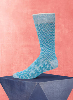 Afromood ZigZag Sock in Teal
