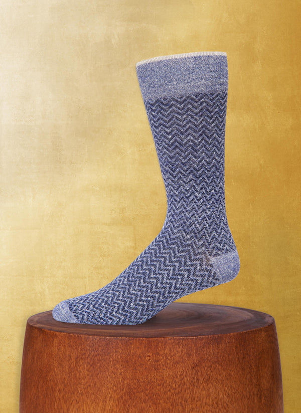 Afromood ZigZag Sock in Denim