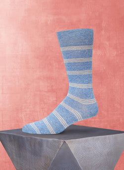 Afromood Tri Stripe Sock in Light Blue