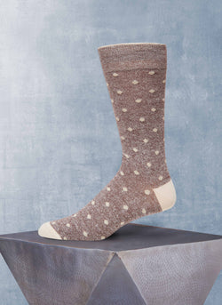Afromood Dots Sock in Brown