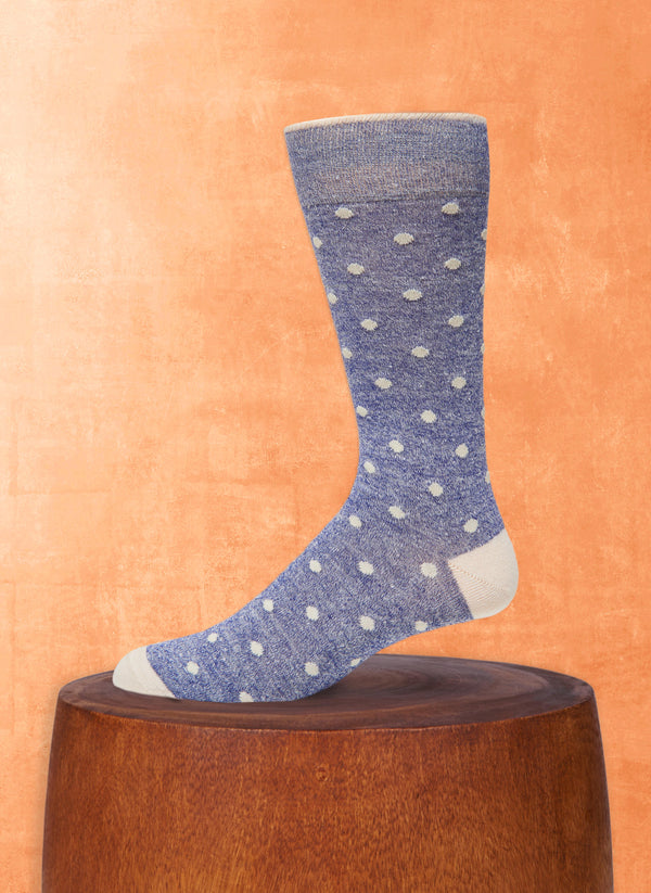 Afromood Dots Sock in Denim