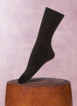 Women's Trouser Ribbed Sock in Black