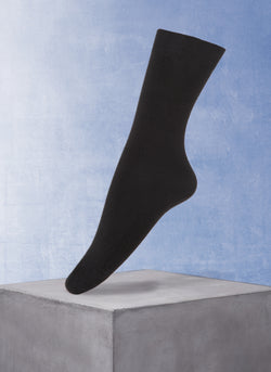 Women's Flat Trouser Sock in Black