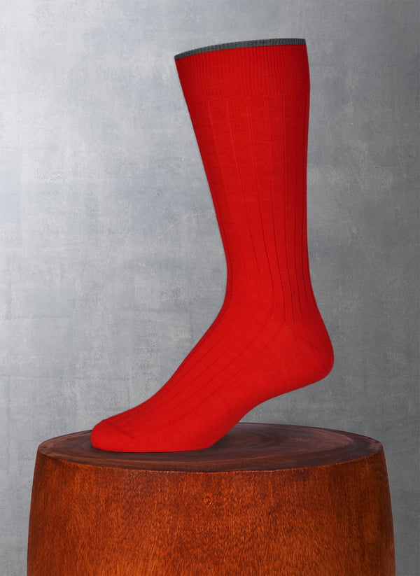 Softest Solid Merino Sock in Red