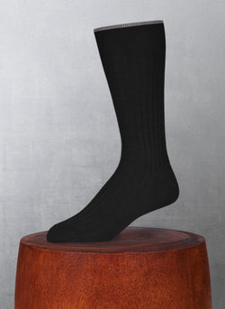 Softest Solid Merino Sock in Black