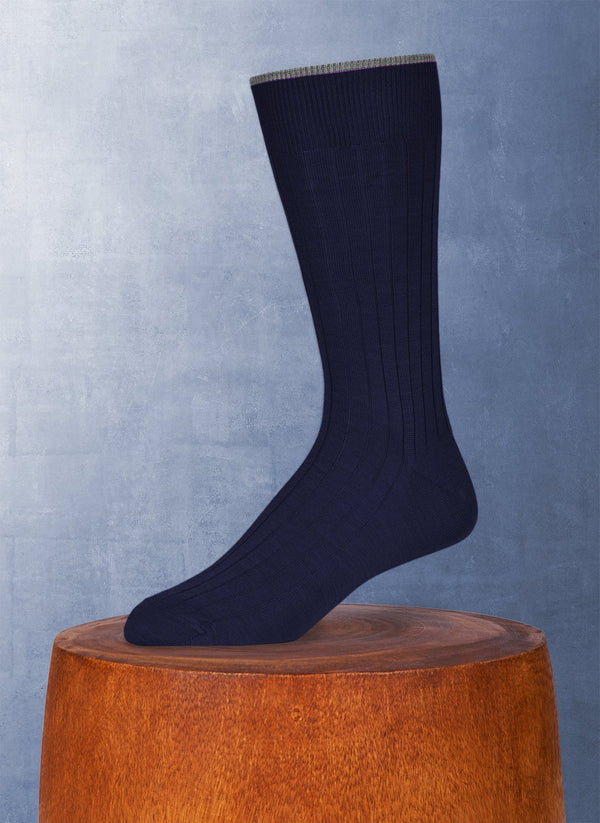 Softest Solid Merino Sock in Navy