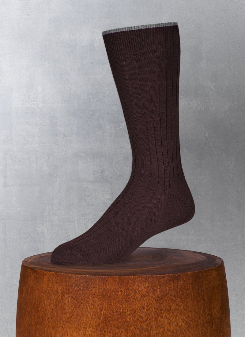 Softest Solid Merino Sock in Brown