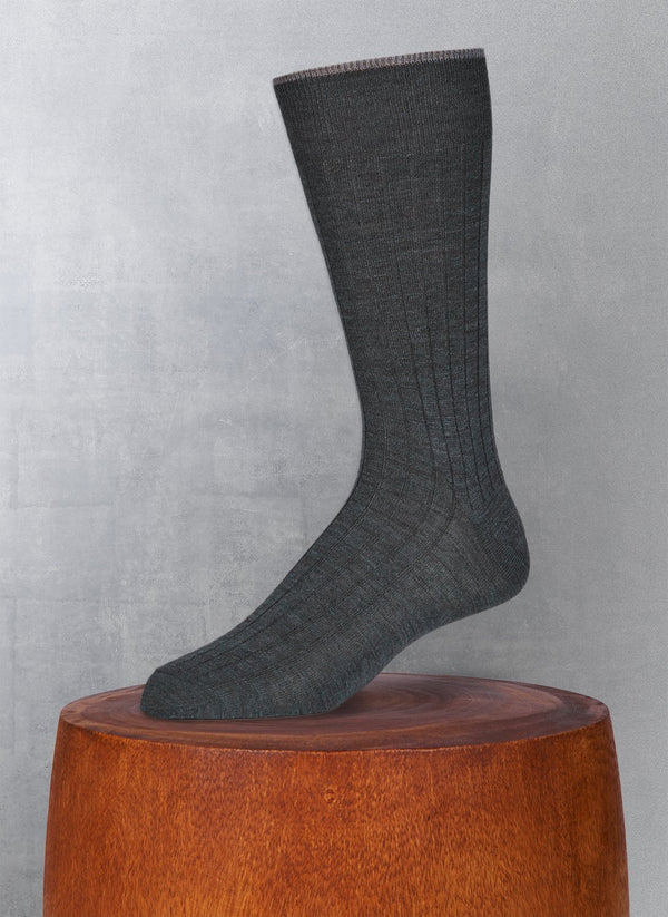 Softest Solid Merino Sock in Charcoal