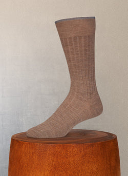 Softest Solid Merino Sock in Taupe