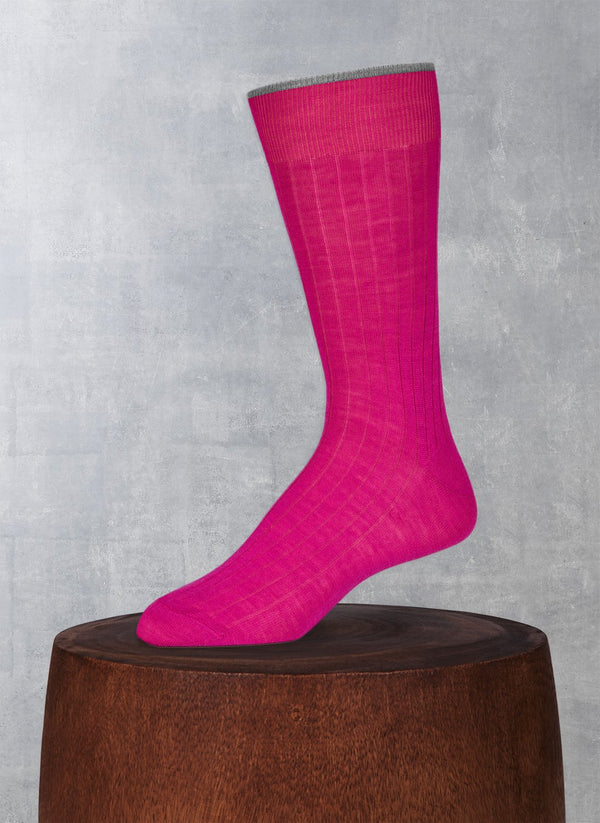 Softest Solid Merino Sock in Fuchsia