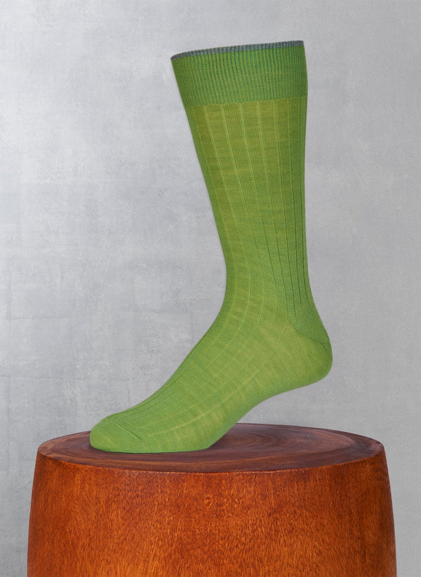 Softest Solid Merino Sock in Lime Green