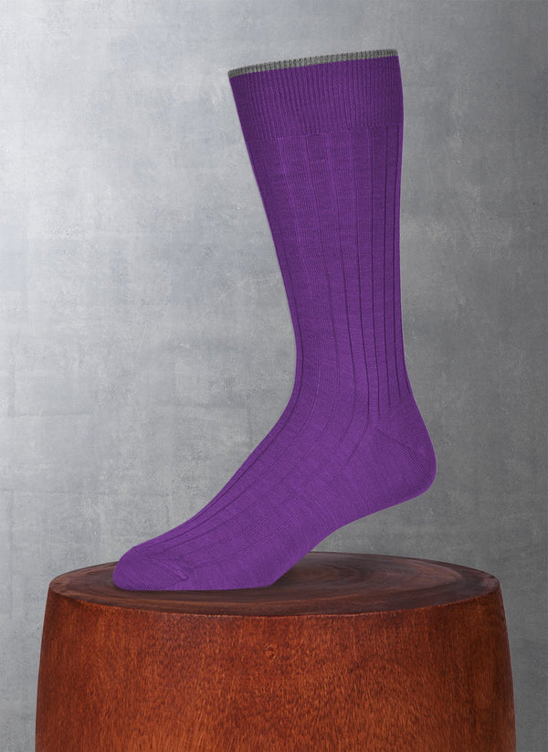 Softest Solid Merino Sock in Light Purple