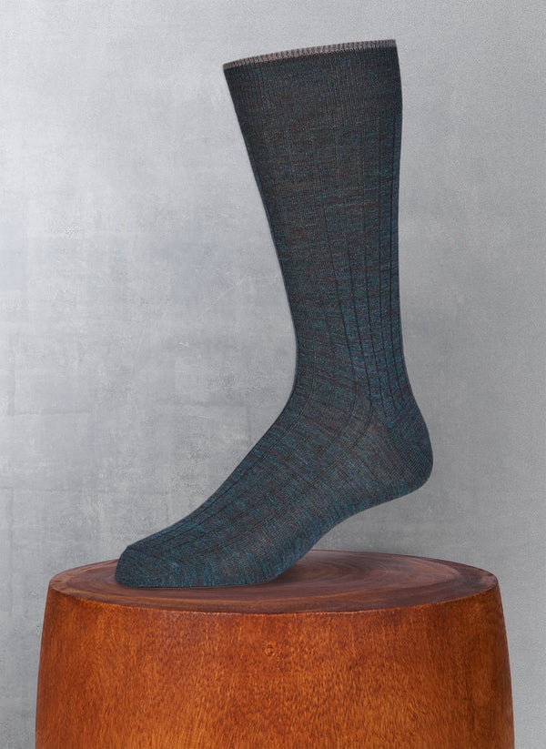 Softest Solid Merino Sock in Ottanio