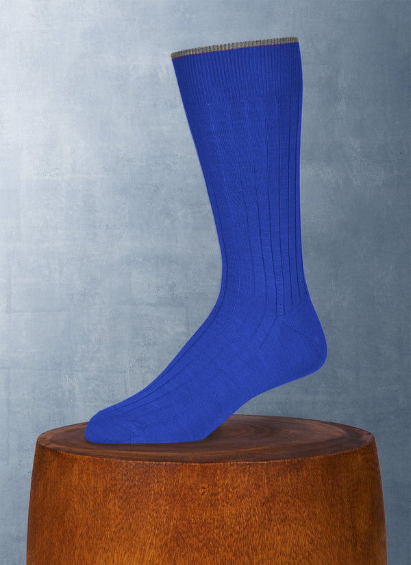 Softest Solid Merino Sock in Royal