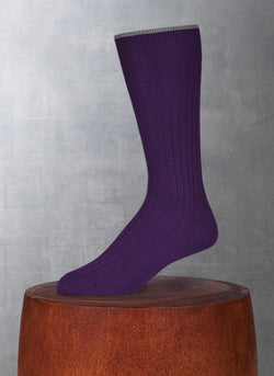 Softest Solid Merino Sock in Plum