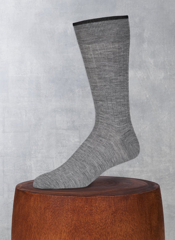 Softest Solid Merino Sock in Light Grey