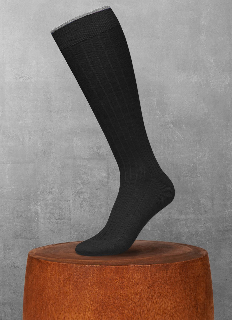 Softest Merino Long Sock in Black