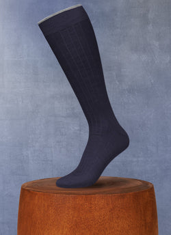 Softest Merino Long Sock in Navy