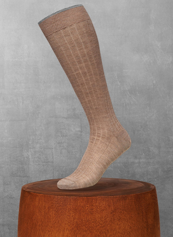 Softest Merino Long Sock in Taupe