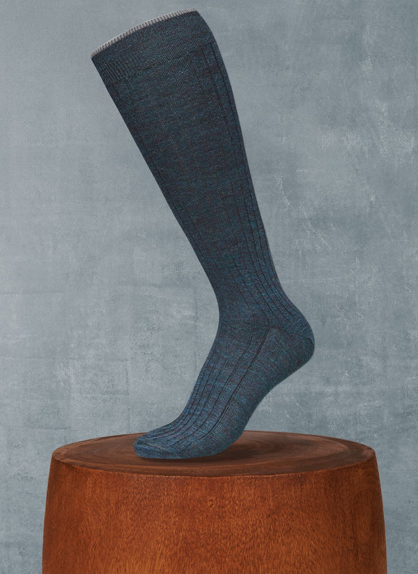 Softest Merino Long Sock in Ottanio