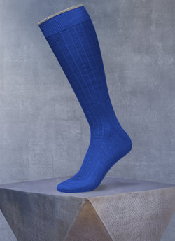 Softest Merino Long Sock in Royal