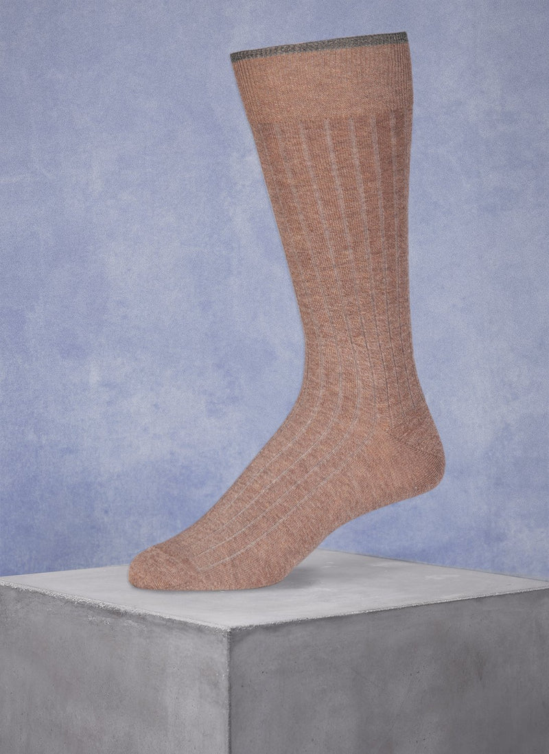 Mercerized Cotton Sock in Heather Taupe