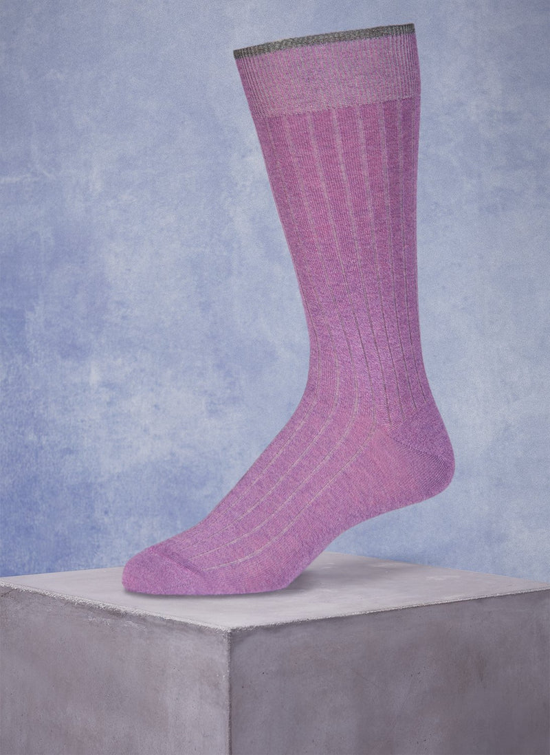 Mercerized Cotton Sock in Heather Violet