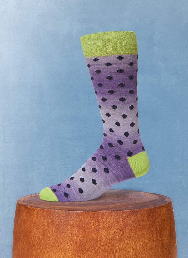 Space Dyed Dot Sock in Purple
