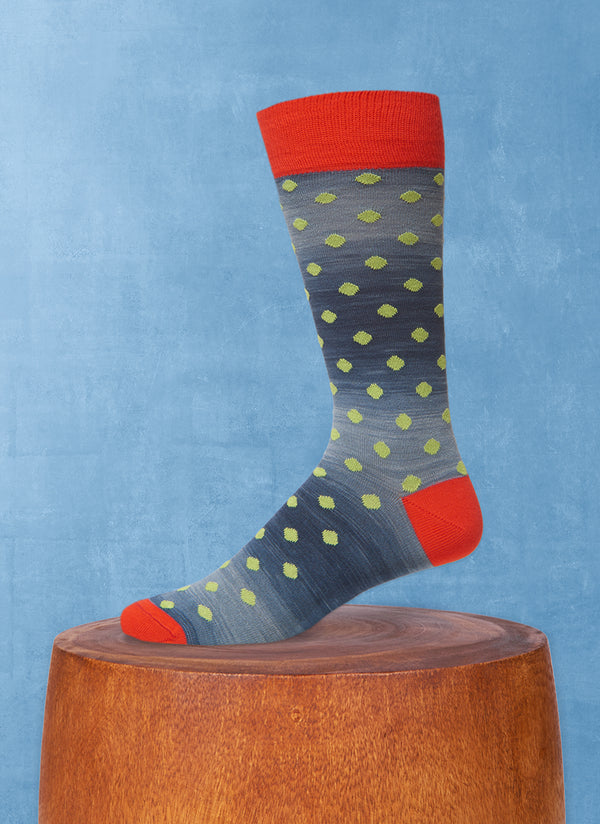 Space Dyed Dot Sock in Teal
