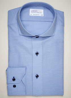 Maxwell in Blue Heather Shirt