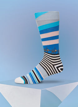 """Monkey Business"" Sock in Blue"