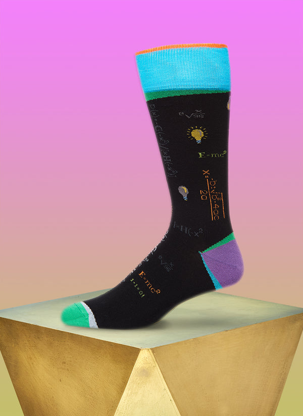 """Absolute Genius"" Sock in Light Blue"