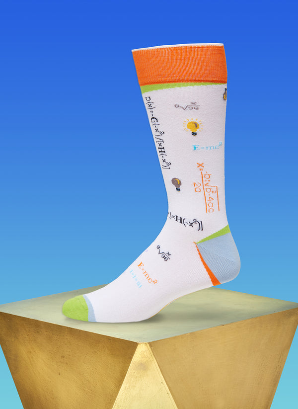 """Absolute Genius"" Sock in Orange"