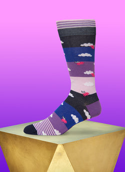 """Hogs On The High"" Sock in Purple"