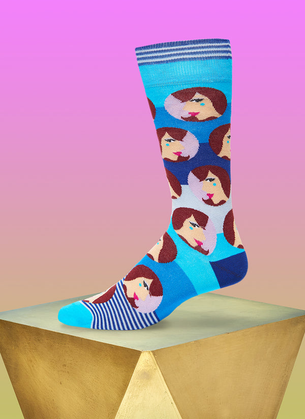 """Dangerous Liaisons"" Sock in Blue"