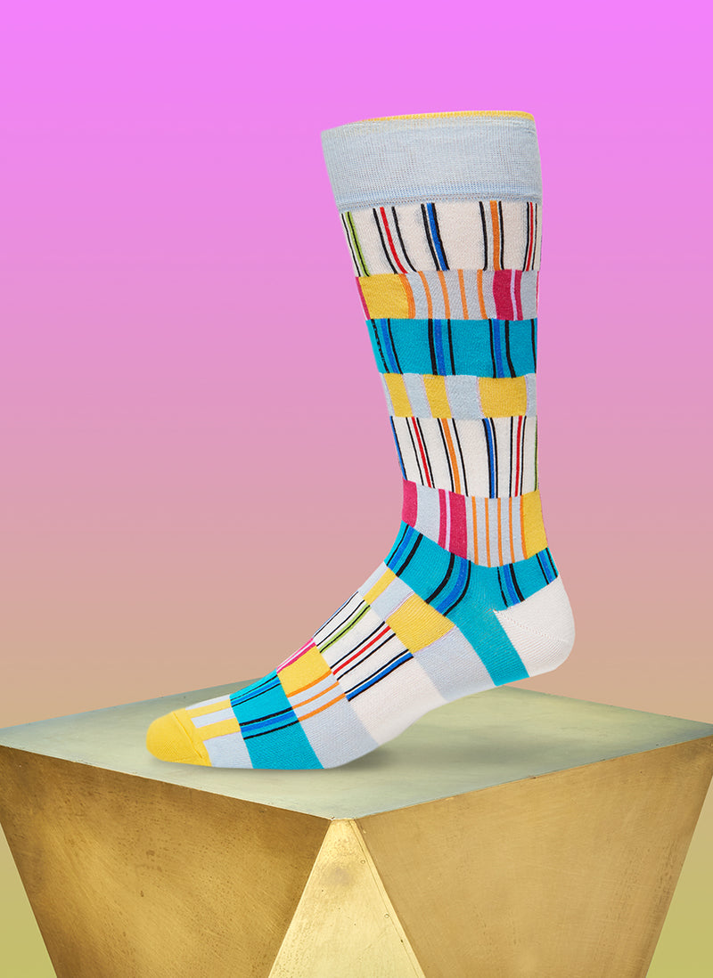 """Off The Heezy"" Sock in Blue"