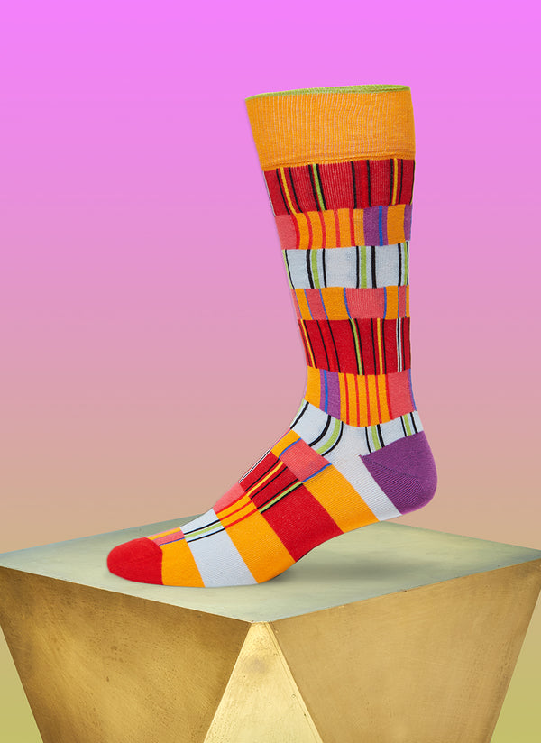 """Off The Heezy"" Sock in Orange"