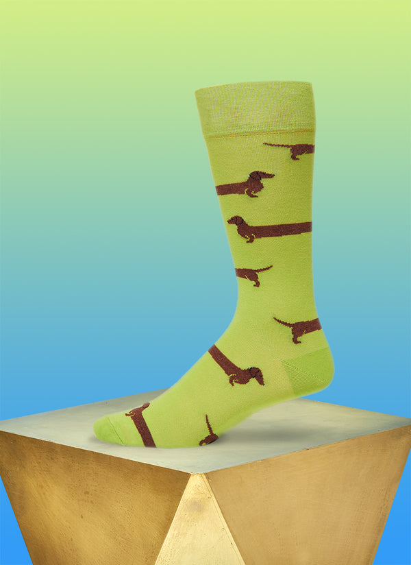 """Love Me Forever"" Sock in Green"