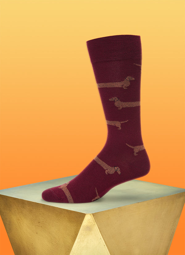 """Love Me Forever"" Sock in Burgundy"