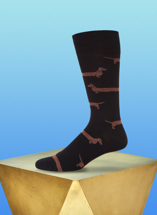 """Love Me Forever"" Sock in Black"