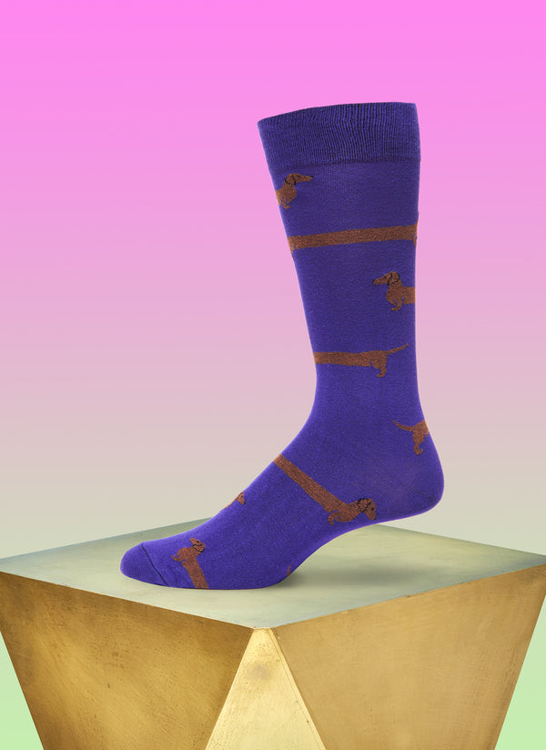"""Love Me Forever"" Sock in Purple"