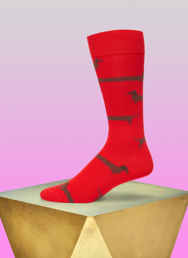"""Love Me Forever"" Sock in Red"