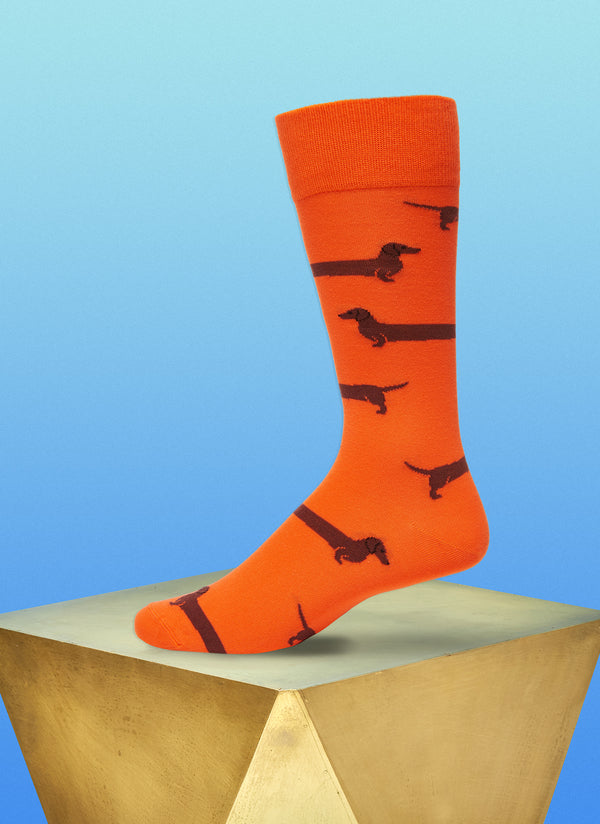 """Love Me Forever"" Sock in Orange"