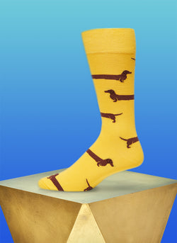 """Love Me Forever"" Sock in Yellow"
