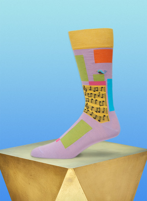 """Supersonic Symphony"" Sock in Yellow"
