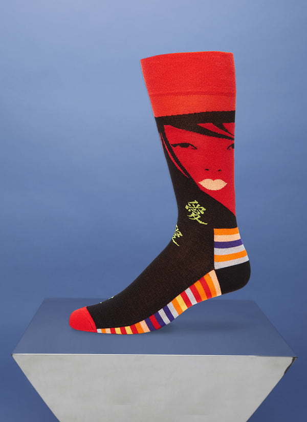 """Fatal Attraction"" Sock in Red"