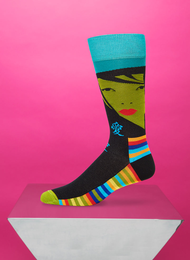 """Fatal Attraction"" Sock in Green"