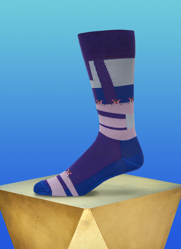 """Hog Watch"" Sock in Royal"