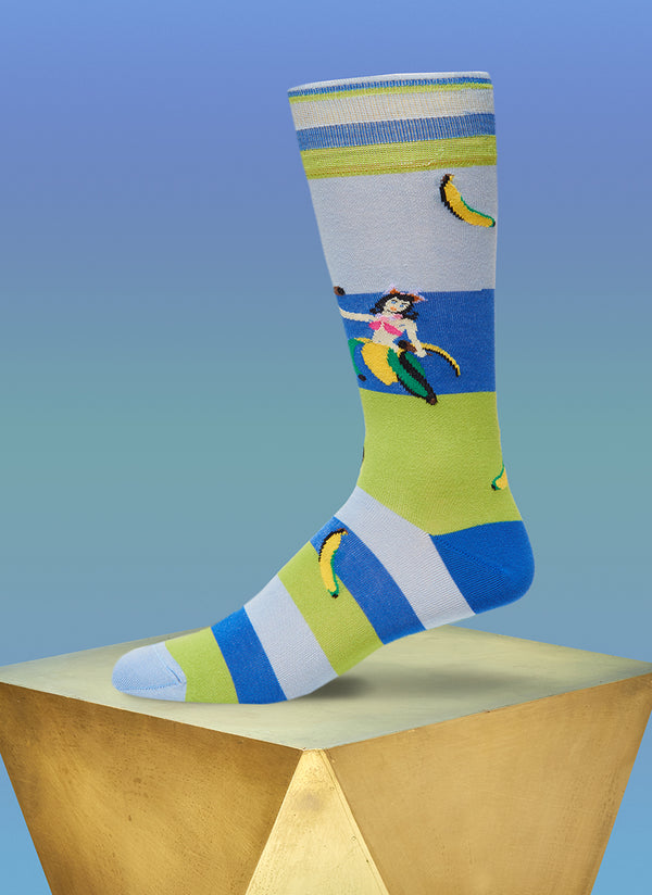 """Meet Me In Rio"" Sock in Light Blue"